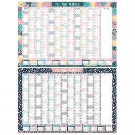 2021 Designer Full Year Wall Planner - 2 Assorted Designs