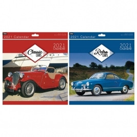 2021 Month to View Classic Cars/Retro Cars Square Photo Wall Calendar