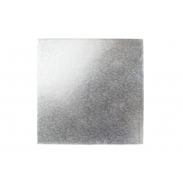 Square Silver Shrink Wrapped Cake Drums 8 Inch - 5Pk