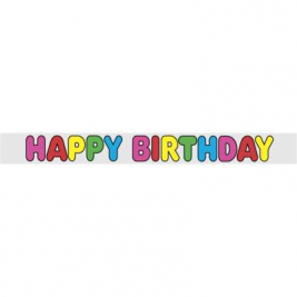 12ft Foil Happy Birthday Banner