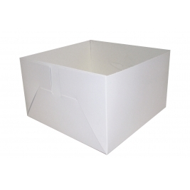 Cake Box Base Only - Folded and Boxed (10 Inch) - 50Pk