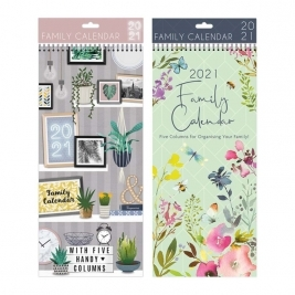 2021 Family Organiser Planner Memo Calendar Month to View with Pen Spiral - Wire Bound x 1 Single