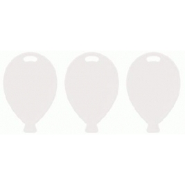 White Balloon Shape Plastic Weights Pack of 10