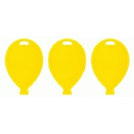 Primary Yellow Balloon Shape Weights 100pcs