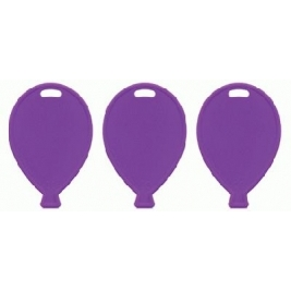 Primary Purple Balloon Shape Weights 100pcs