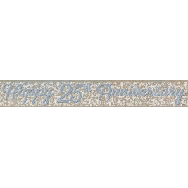 25th Anniversary Prism Foil Banner 12ft