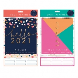 2021 Home Planner Calendar In 2 Assorted Designs - Home & Marble