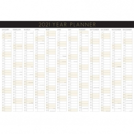 2021 Premium Yearly Wall Planner