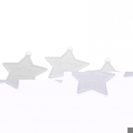 White Color Star Shape Balloon Weights Pack of 25