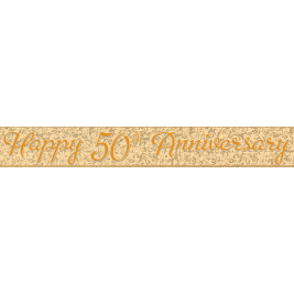 50th Anniversary Prism Foil Banner 12ft