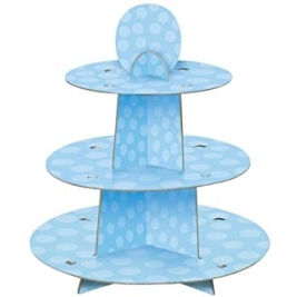 Baby Blue 3-Tier Cupcake Stand