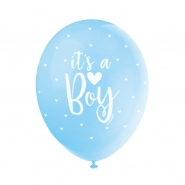IT'S A BOY BLUE COLOR ASSORTED BALLOONS PACK OF 5