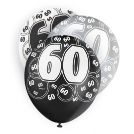 60th Birthday Black & Silver Glitz 12