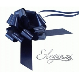 Eleganza Poly Pull Bows Navy Blue - 30mm x 30pcs
