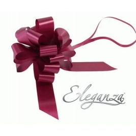 Eleganza Poly Pull Bows Burgundy - 30mm x 30pcs