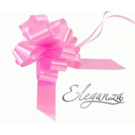 Eleganza Poly Pull Bows Classic Pink - 30mm x 30pcs