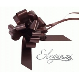 Eleganza Poly Pull Bows Chocolate - 30mm x 30pcs