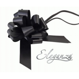 Eleganza Poly Pull Bows Black - 30mm x 30pcs