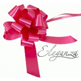 Eleganza Poly Pull Bows Deep Cerise - 30mm x 30pcs