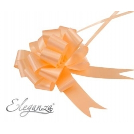 Eleganza Poly Pull Bows Peach - 30mm x 30pcs