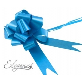 Eleganza Poly Pull Bows Turquoise - 30mm x 30pcs