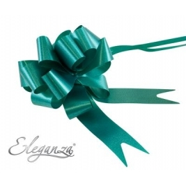 Eleganza Poly Pull Bows Emerald Green - 30mm x 30pcs