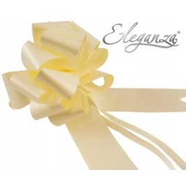 Eleganza Poly Pull Bows Cream - 50mm x 20pcs