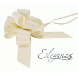 Eleganza Poly Pull Bows Ivory - 50mm x 20pcs
