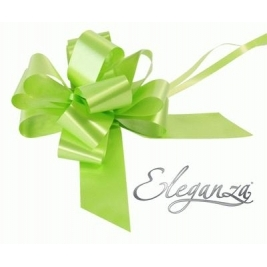 Eleganza Poly Pull Bows Lime Green - 50mm x 20pcs