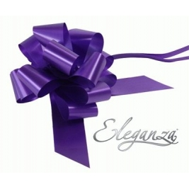 Eleganza Poly Pull Bows Purple - 50mm x 20pcs