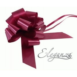 Eleganza Poly Pull Bows Burgundy - 50mm x 20pcs