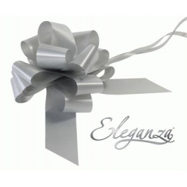 Eleganza Poly Pull Bows Silver - 50mm x 20pcs