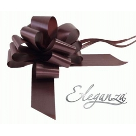 Eleganza Poly Pull Bows Chocolate - 50mm x 20pcs