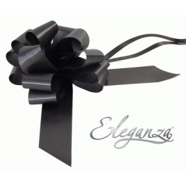 Eleganza Poly Pull Bows Black - 50mm x 20pcs