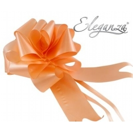 Eleganza Poly Pull Bows Peach - 50mm x 20pcs