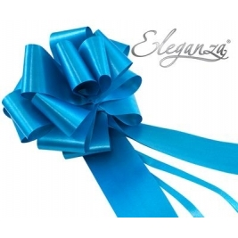 Eleganza Poly Pull Bows Turquoise - 50mm x 20pcs
