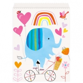 Baby Shower Zoo Paper Goodie Bags Pack of 8