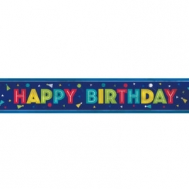 PEPPY BDAY FOIL BNNR-12FT