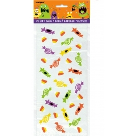 Pack of 20 Halloween Silly Monster Cello Bag