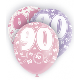 90th Birthday Pink & Lilac 12