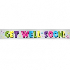 BRGHT GET WELL FL BNR-12FT-LF