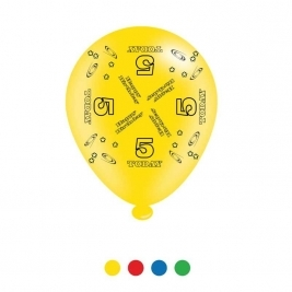 Age 5 Unisex Birthday Latex Balloons - Pack of 8