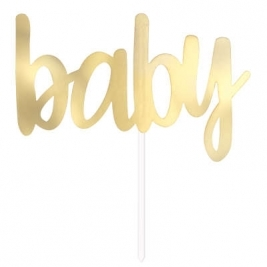 BABY - Gold Foil Baby Shower Cake Topper