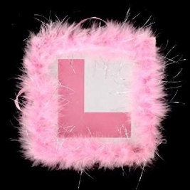 Baby Pink Fluffy L-Plate! Bride to Be Hen Night Party Novelty