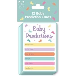 Baby Shower Game - Pack of 15 Baby Prediction Cards - Guess The Weight/Date