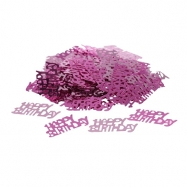 Happy Birthday Pink Confetti - 14 grams