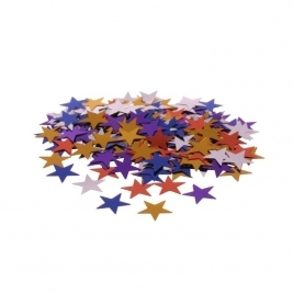 Multi Coloured  Stars Confetti - 14 grams