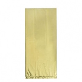 Cellophane Party Bags Gold Foil, Pack of 10