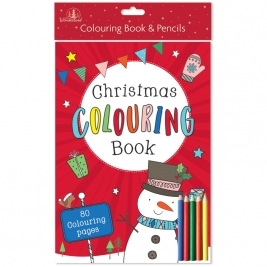 Christmas Coloring Book and Pencils