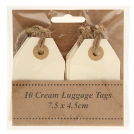 Cream Luggage Tags 7.5cm x 4.5cm -10